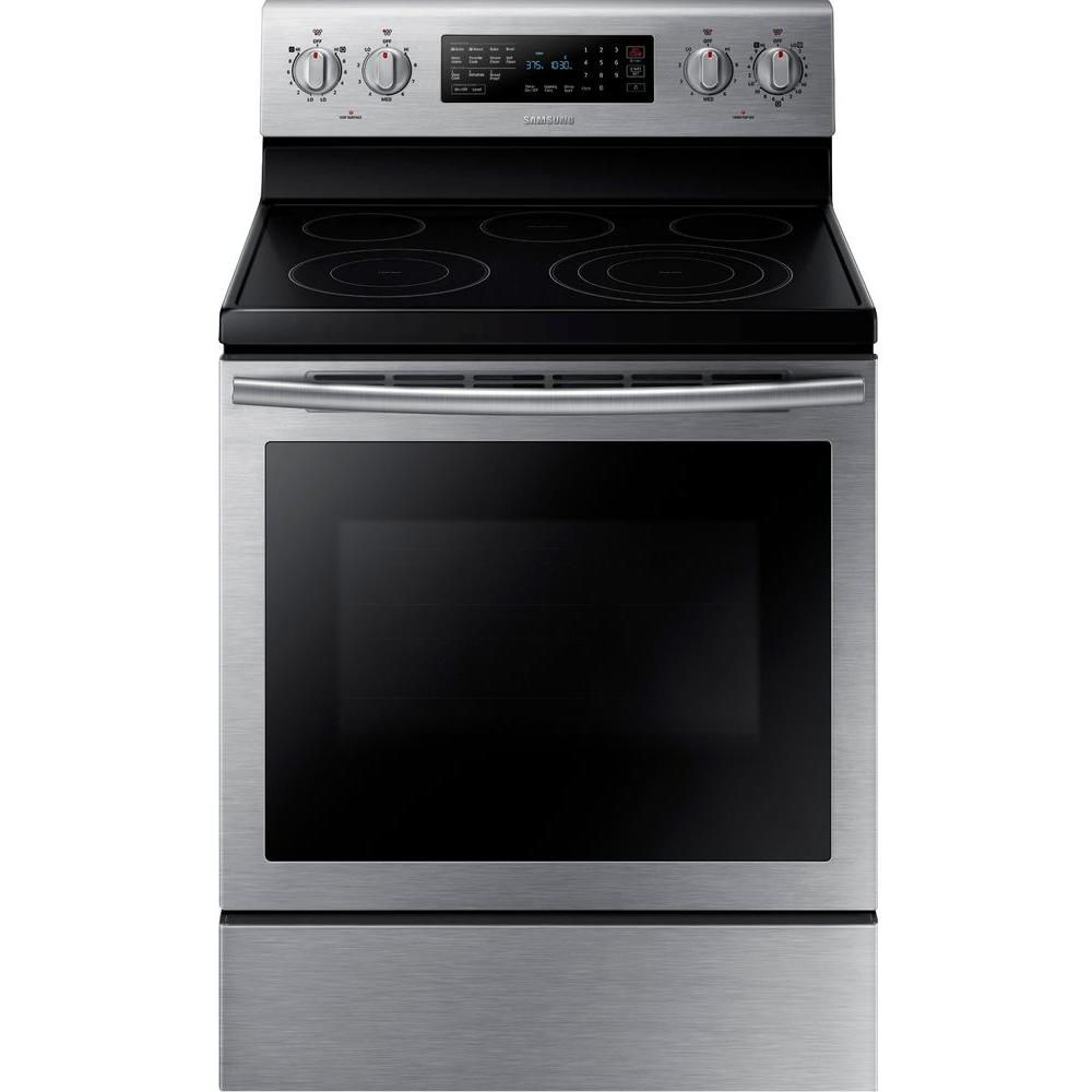 5.9 cu. ft. Free-Standing Electric Range with Steam Clean and True Convection in Stainless Steel
