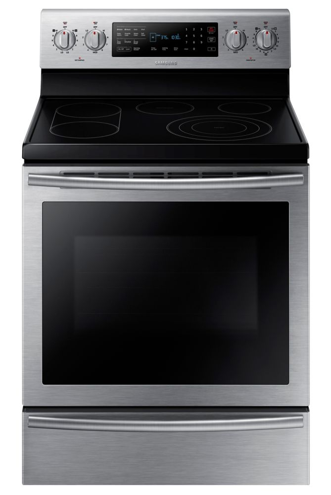 5.9 cu. ft. Free-Standing Electric Range with True Convection and Bridge Burner in Stainless Stee...