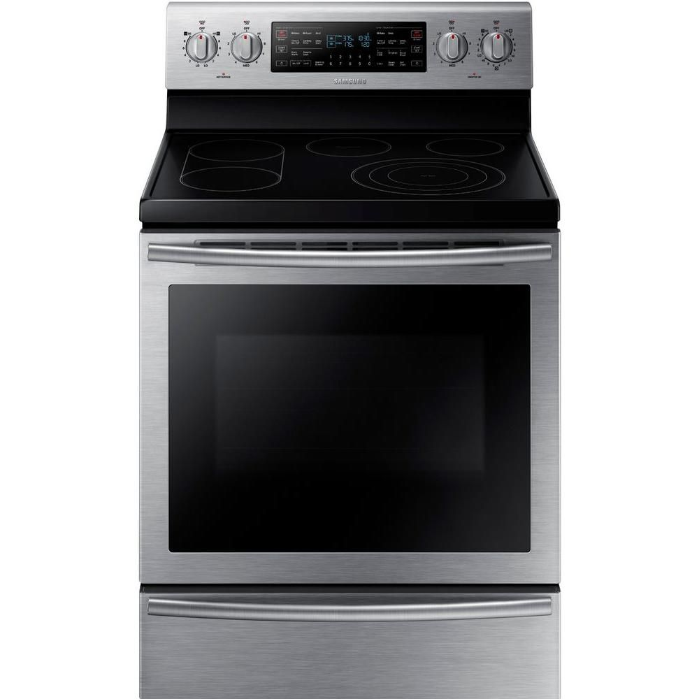 5.9 cu. ft. Free-Standing Electric Range with Self-Cleaning and Flex Duo� Oven in Stainless Steel