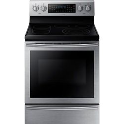 Samsung 30-inch 5.9 cu. ft. Free-Standing Electric Range with Flex Duo Oven in Stainless Steel