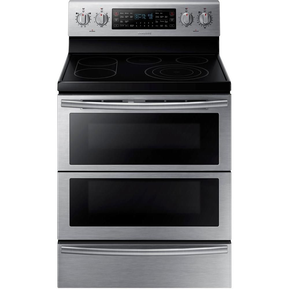 Samsung 30-inch 5.9 cu. ft. Free-Standing Dual Door Electric Convection Range in Stainless Steel