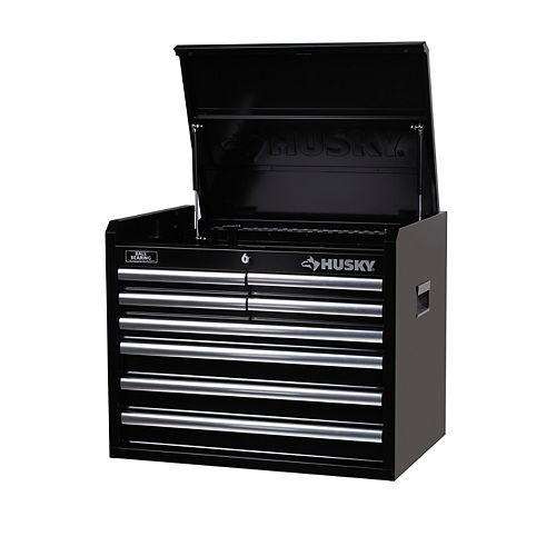 Husky 26-inch 8-Drawer Tool Storage Chest in Black