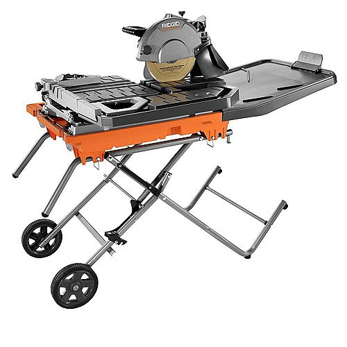 RIDGID 10 in. Wet Tile Saw with Stand