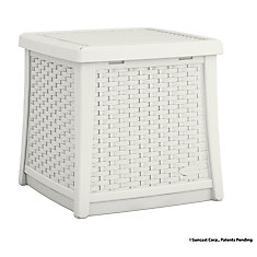 Elements 1.9 cu. ft. Side Table and Deck Box in White