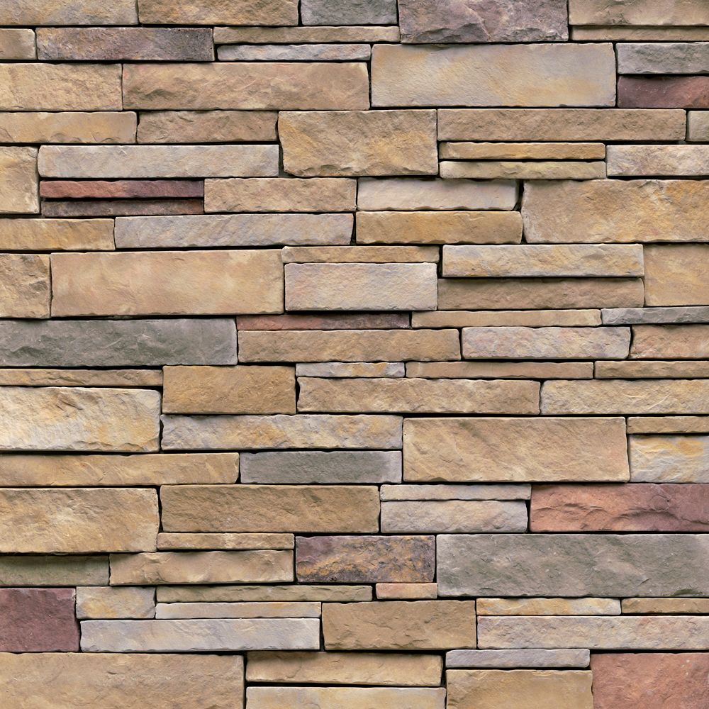 Genstone stacked stone 28sq ft faux stone veneer faux for Brick stone siding