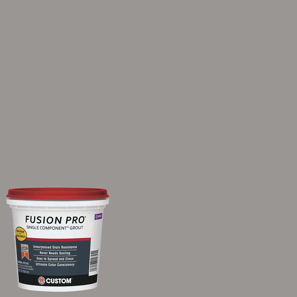 Custom Building Products #165 Delorean Gray Fusion Pro 1 qt.