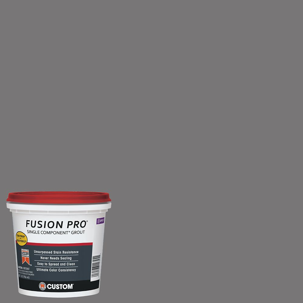 Custom Building Products #19 Pewter Fusion Pro 1 qt.