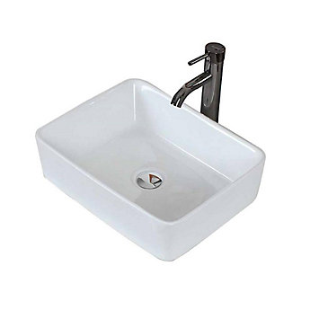 American Imaginations 19 Inch W X 14 Inch D Rectangular Vessel Sink