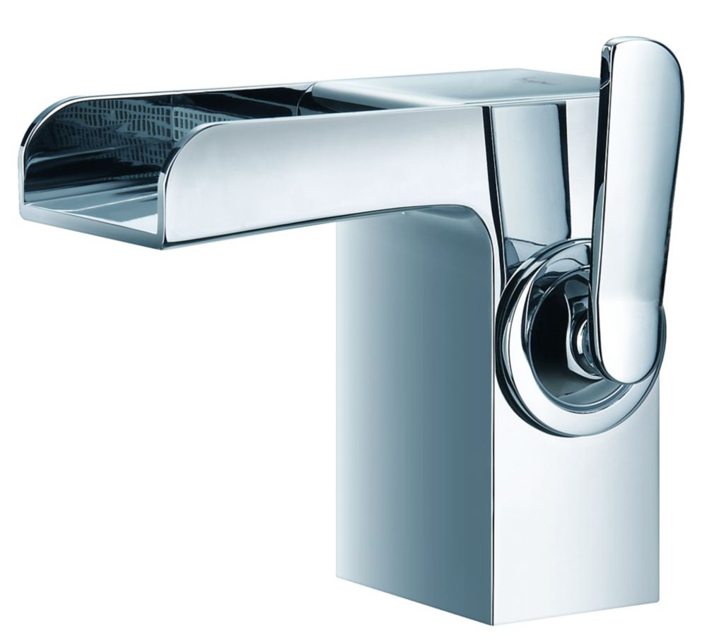 Flow Single Hole Bathroom Faucet in Chrome Finish