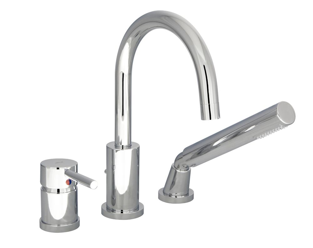 Rondo 3-Piece Roman Bath Faucet in Chrome Finish