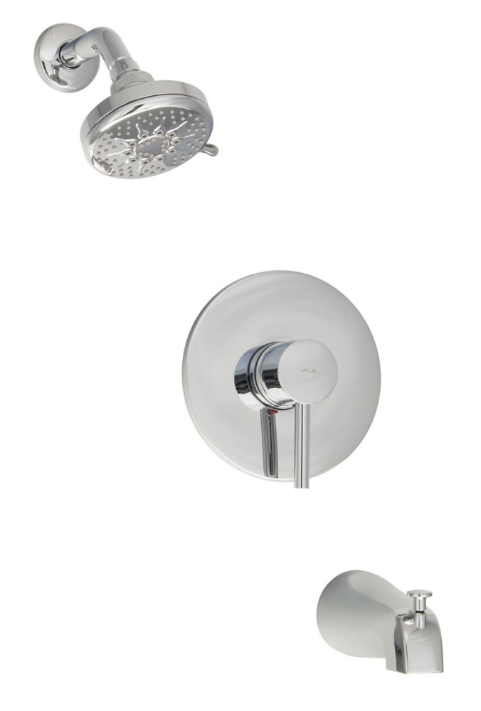 Rondo Volume Control Pressure Balanced Faucet with Showerhead in Chrome