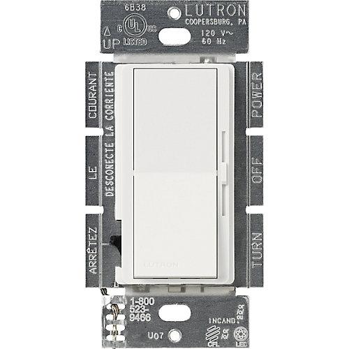 Diva 250-Watt Single Pole/3-Way CFL/LED Dimmer, White