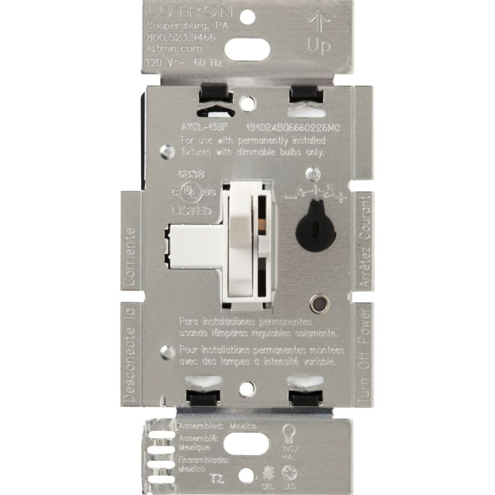 Ariadni 250-Watt Single Pole/3-Way CFL/LED Dimmer, White