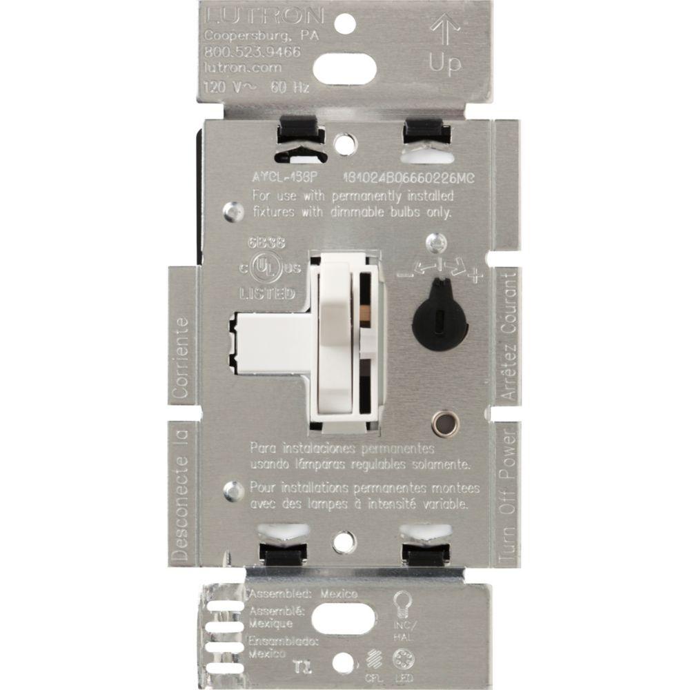 Lutron Ariadni 250-Watt Single Pole/3-Way CFL/LED Dimmer, White