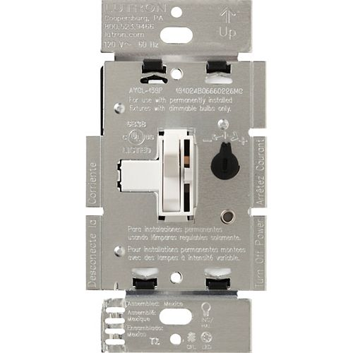 Lutron Ariadni 250W LED+ Dimmer Switch for Dimmable LED/Hal/Incand, Single-Pole or 3-Way, White