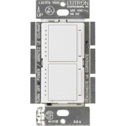 Lutron Maestro 300-Watt Single-Pole Dual Digital Dimmer, White