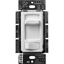 Contrôle de ventilateur silencieux Skylark Contour Unipolaire/3Voies, 3-vitesses 1.5 Amp, Blanc