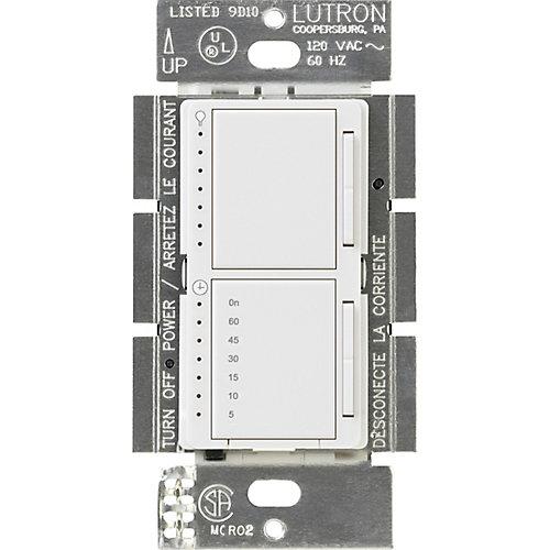 Maestro 300-Watt Single-Pole Digital Dimmer and Timer Switch, White