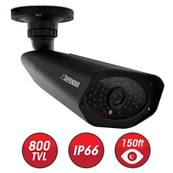 Defender PRO Camera de sécurité extérieure avec la résolution 800 LTV et 150 pieds de vision nocturne