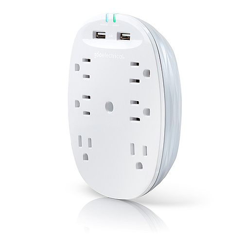 360 Electrical Studio2.4 Surge Protector w/2.4A USB