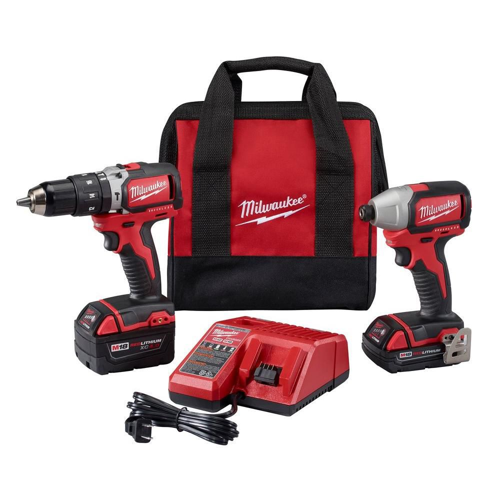 M18� Compact Brushless Hammer Drill/Brushless Impact Combo Kit