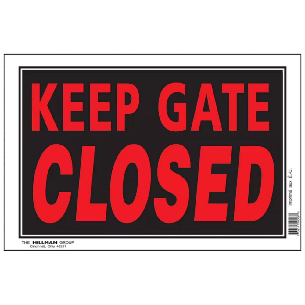 8 X 12 Keep Gate Closed