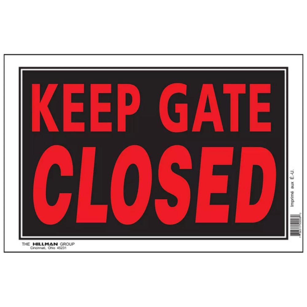 8 X 12 Keep Gate Closed