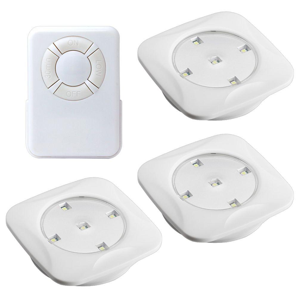 Wireless Puck Lights Canada: Enviromate Products Enviromate Luminate Remote Puck Lights