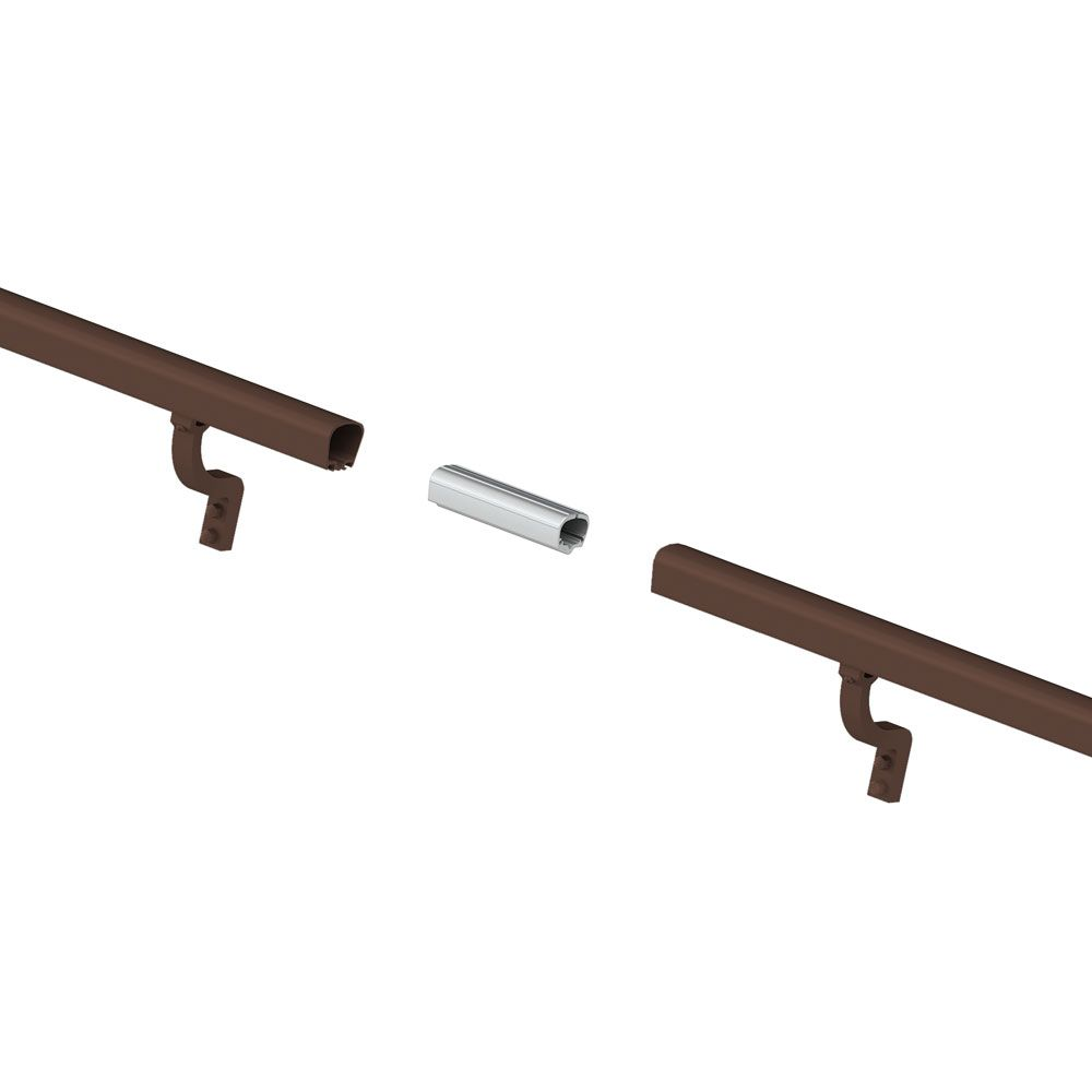 8 ft. Aluminum Handrail Kit - Brushed Bronze