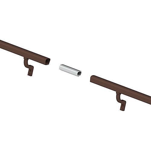 8 ft. Aluminum Handrail Kit - Brushed Bronze