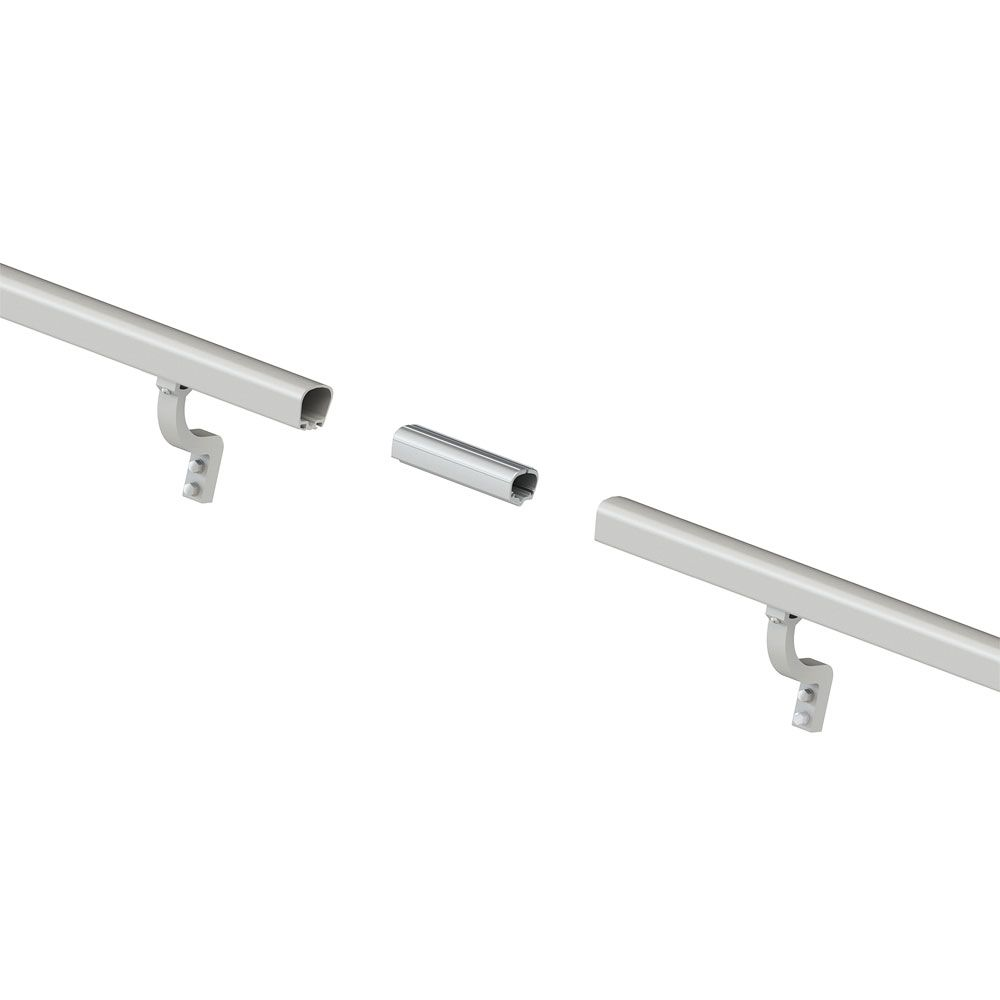 8 ft. Aluminum Handrail Kit - Brushed Silver