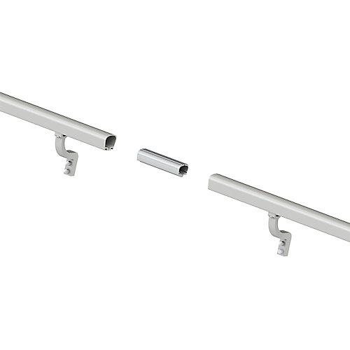 8 ft. Aluminum Handrail Kit - Brushed Silver