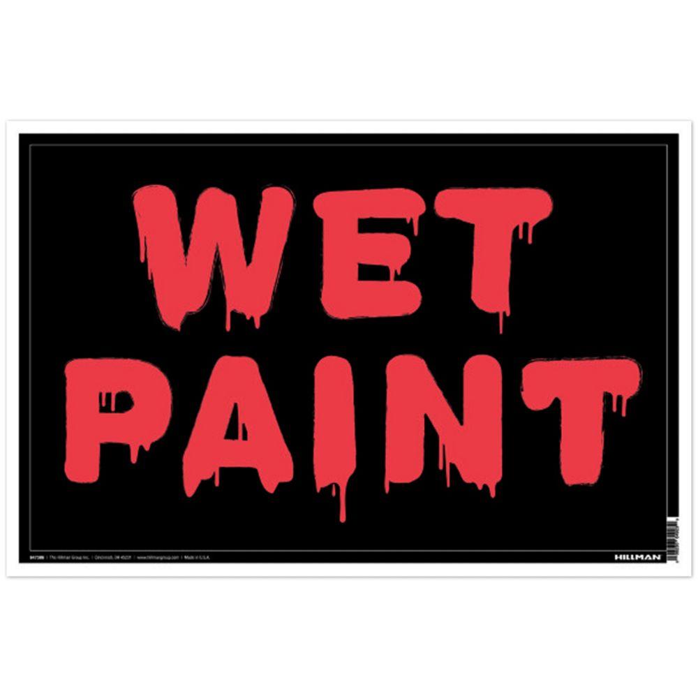 8 X 12 - Wet Paint