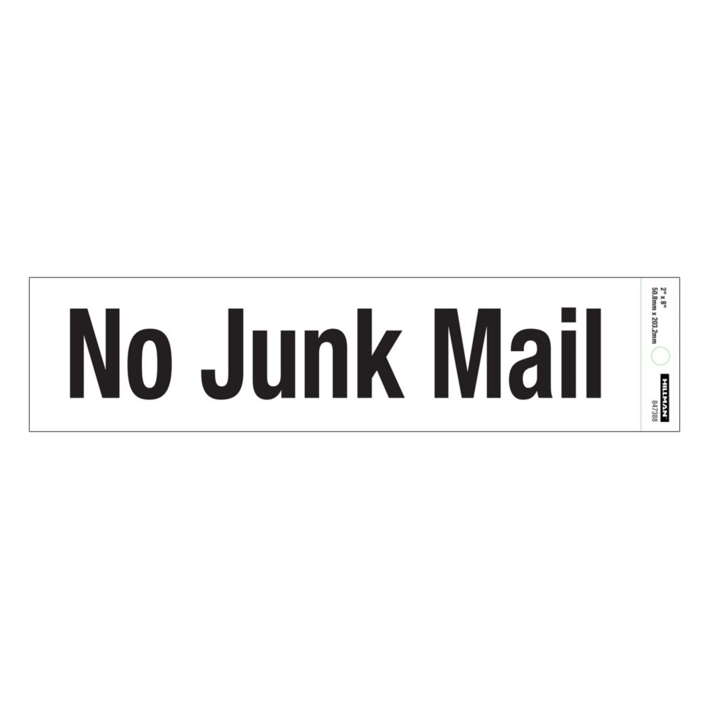 Affiche 2 X 8 - No Junk Mail