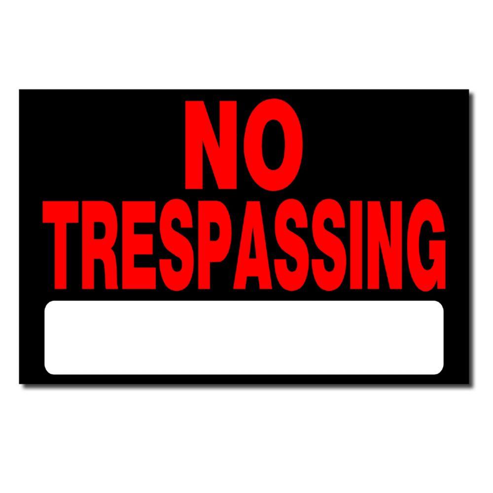 8x12 No Tresspassing