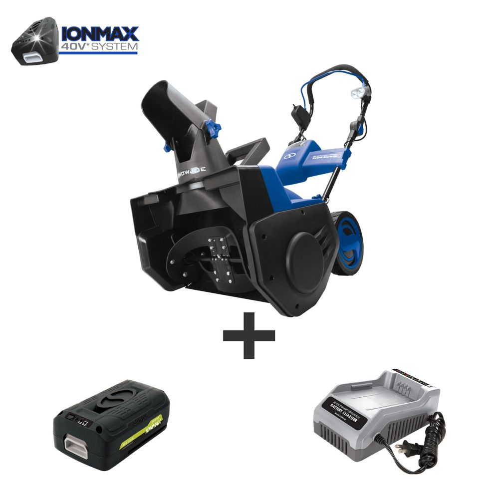iON PRO Cordless Single Stage Snow Blower with 21-inch Clearing Width