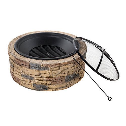 Fire Joe 35-inch Cast Stone Fire Pit