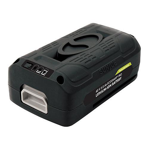 Batterie au lithium-ion PRO 40 V 5,0 Ah EcoSharp iON + Sun Joe