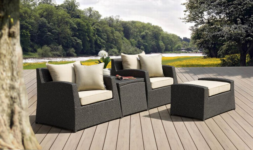 4-Piece Kingston Outdoor Club Chair Set
