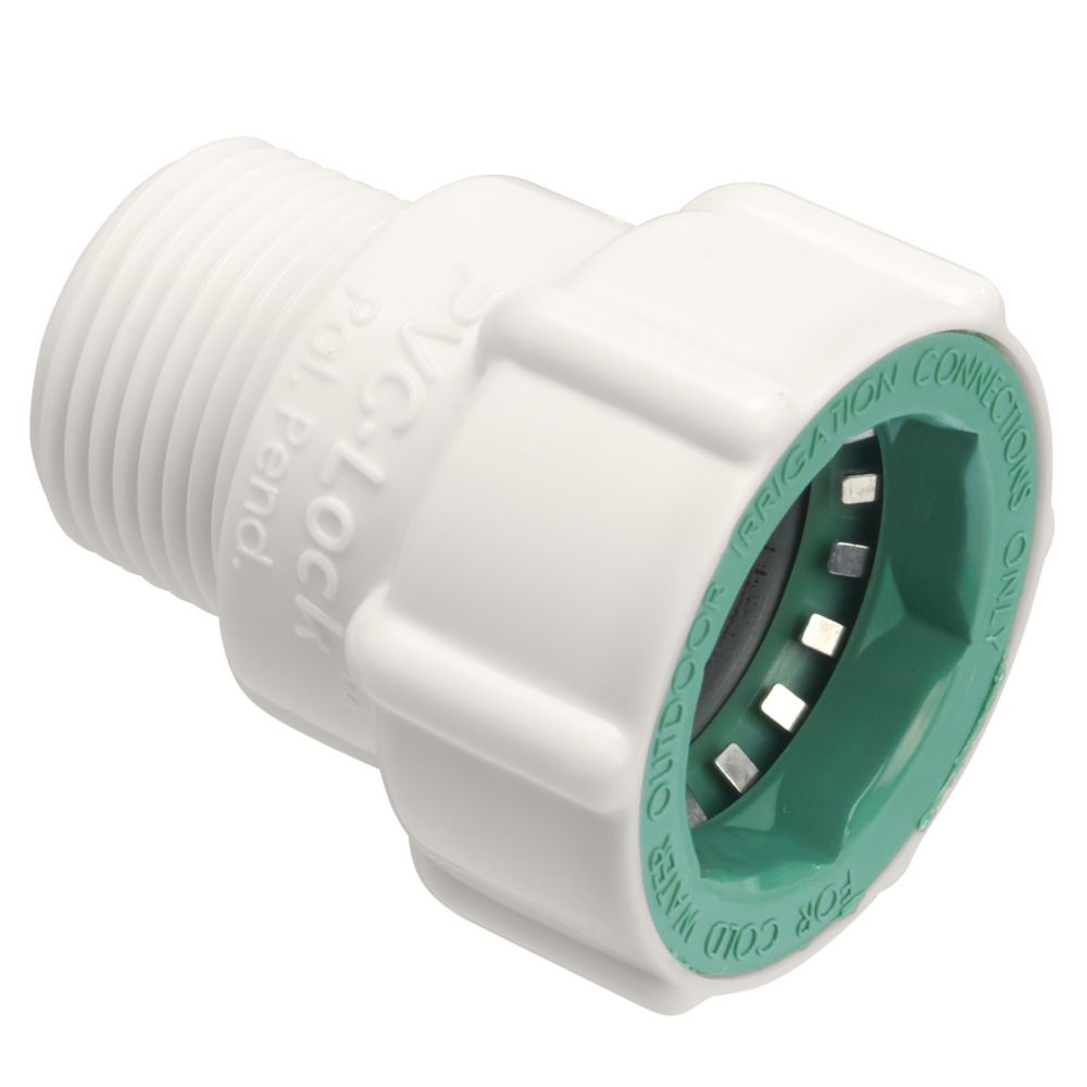 3/4 Inch   PVC-Lock x 3/4 Inch   MPT Adapter