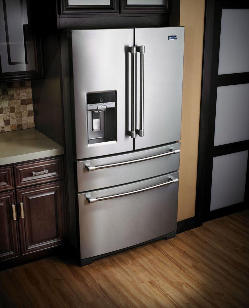 26 pi.cu. Réfrigérateur à portes françaises, acier inoxydable - MFX2876DRM