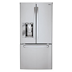 33-inch W 24.2 cu. ft. 2-Door French Door Refrigerator with Ice and Water Dispenser in Stainless Steel - ENERGY STAR®