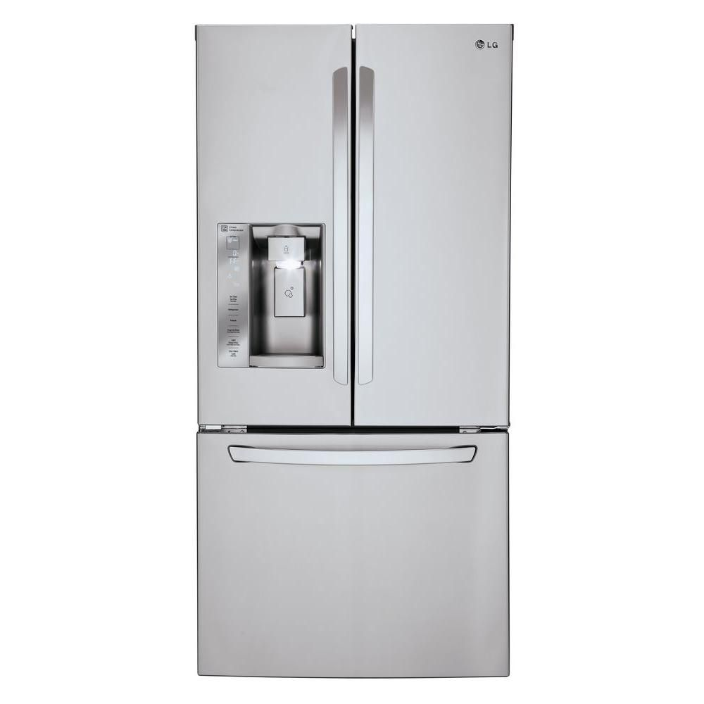 white french door refrigerator. French Door Refrigerator In Stainless Steel With Ice And Water Dispenser White