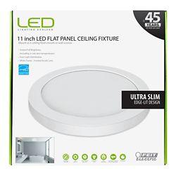 Feit 11-inch White Integrated LED Round Edge Flushmount Light Fixture - ENERGY STAR®