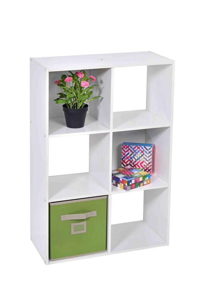 6 Cube Storage in White