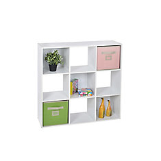 9 Cube Storage Unit In White
