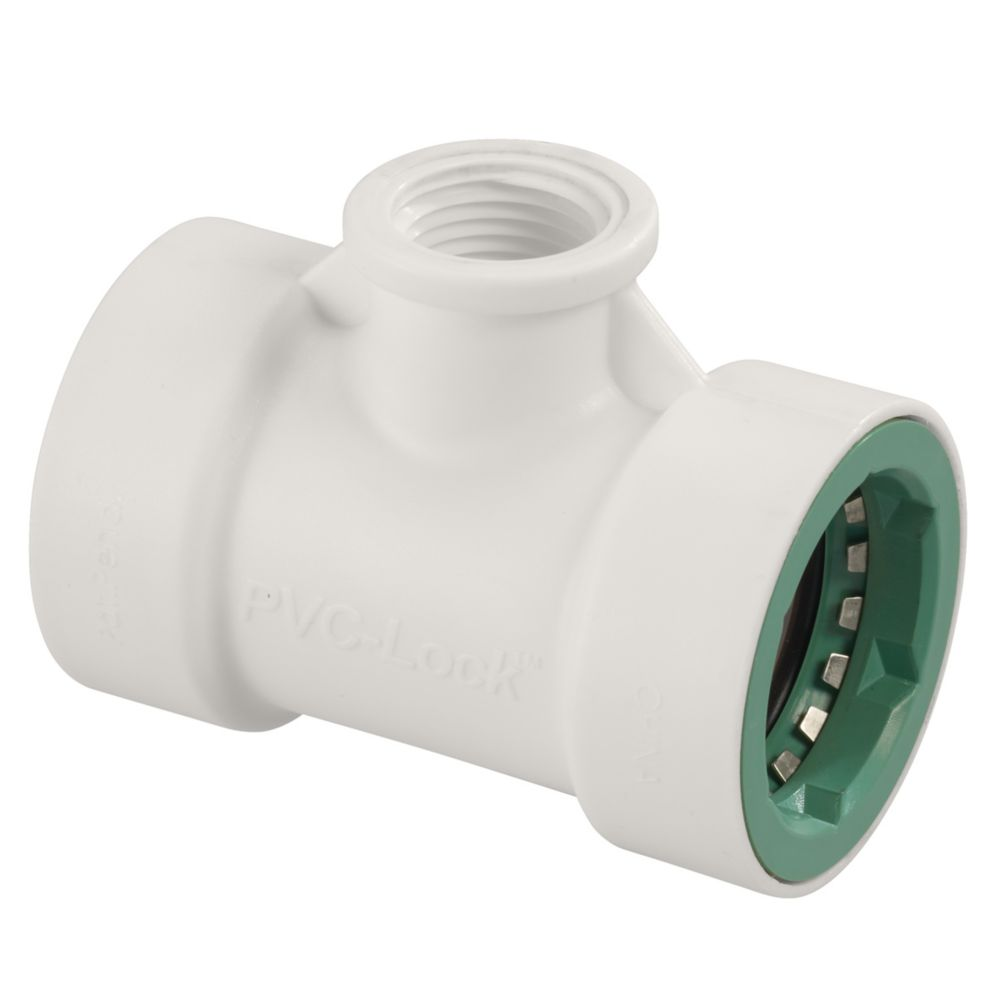 1/2 Inch   PVC-Lock x 1/2 Inch   FPT Tee