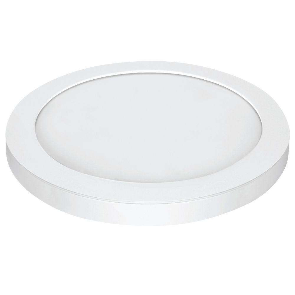 15 Inch.  LED Round Edge Lit Flush, White Trim