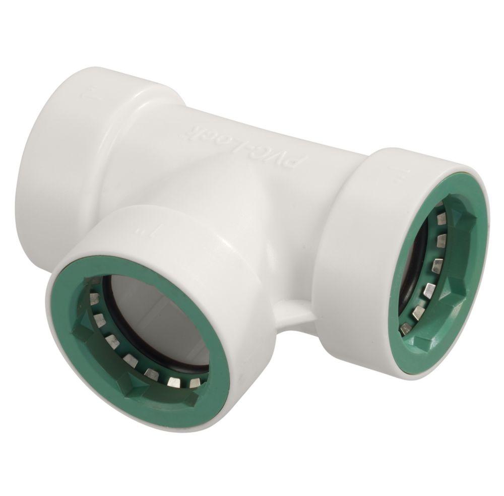 1 Inch.  PVC-Lock Tee