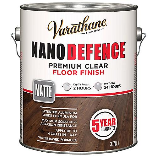 Nano Defence Premium Clear Floor Finish In Matte Clear, 3.78 L